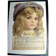Antique Hoods Sarsaparilla Coupon Calendar, 1897