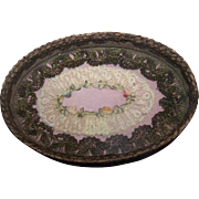 Fabulous Miniature Ribbon & Roses Vanity Tray