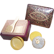 "Miniature France Vanity Set Stamped ""FRANCE"""