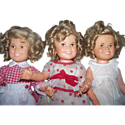 "Three (3) Vintage Shirley Temple Dolls 16"""