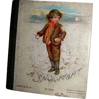 "Ernest Nister Miniature Book ""A Snowfight"""