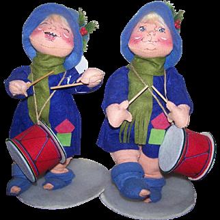 """Christmas Annalee Drummers Large 12"""" Vintage 1971"""