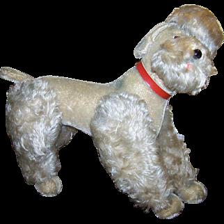 """Large Steiff Stuffed Animal Poodle Dog 13 1/2"""""""