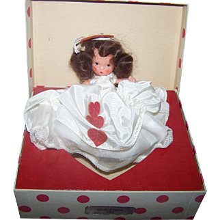 1940's Nancy Ann Storybook Doll JOinted LEGS/ With Box  Queen of Hearts