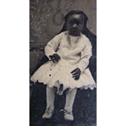 ON HOLD FOR KIM Pretty Black Negro African American Girl Tintype