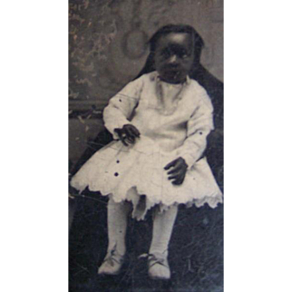 Pretty Black Negro African American Girl Tintype
