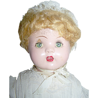 "Vintage 22"" Composition and Cloth Doll"