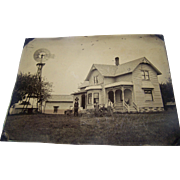 RaRe Full Plate Tintype Farm House Michigan