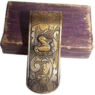 Early Childs Napkin Holder Clip Original Box