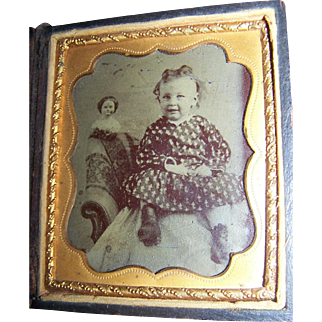Tintype China Head Doll And Child