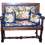 Adorable Doll Settee Miniature Furniture Accessory