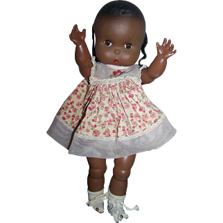 Jolly Toys Inc., 1960 Marked Vintage Black Doll