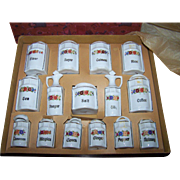 Complete Miniature Canister/Spice Set Original Box