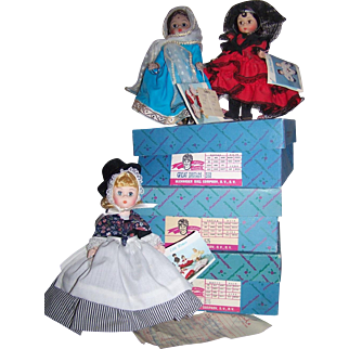 Three Madame Alexander Dolls With Original Boxes/tags