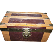 Vintage Wooden Doll Trunk by Cass Toys