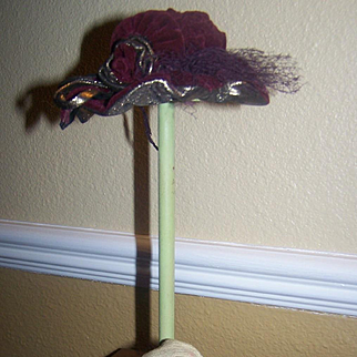 Doll Hat Stand Marked Germany Paper Mache Head