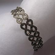Art Deco 935 Silver Marcasite Bracelet