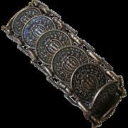 Italian San Marino Souvenir Coin Bracelet 1936