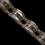 Vintage Toledo Mother of Pearl Set Bracelet
