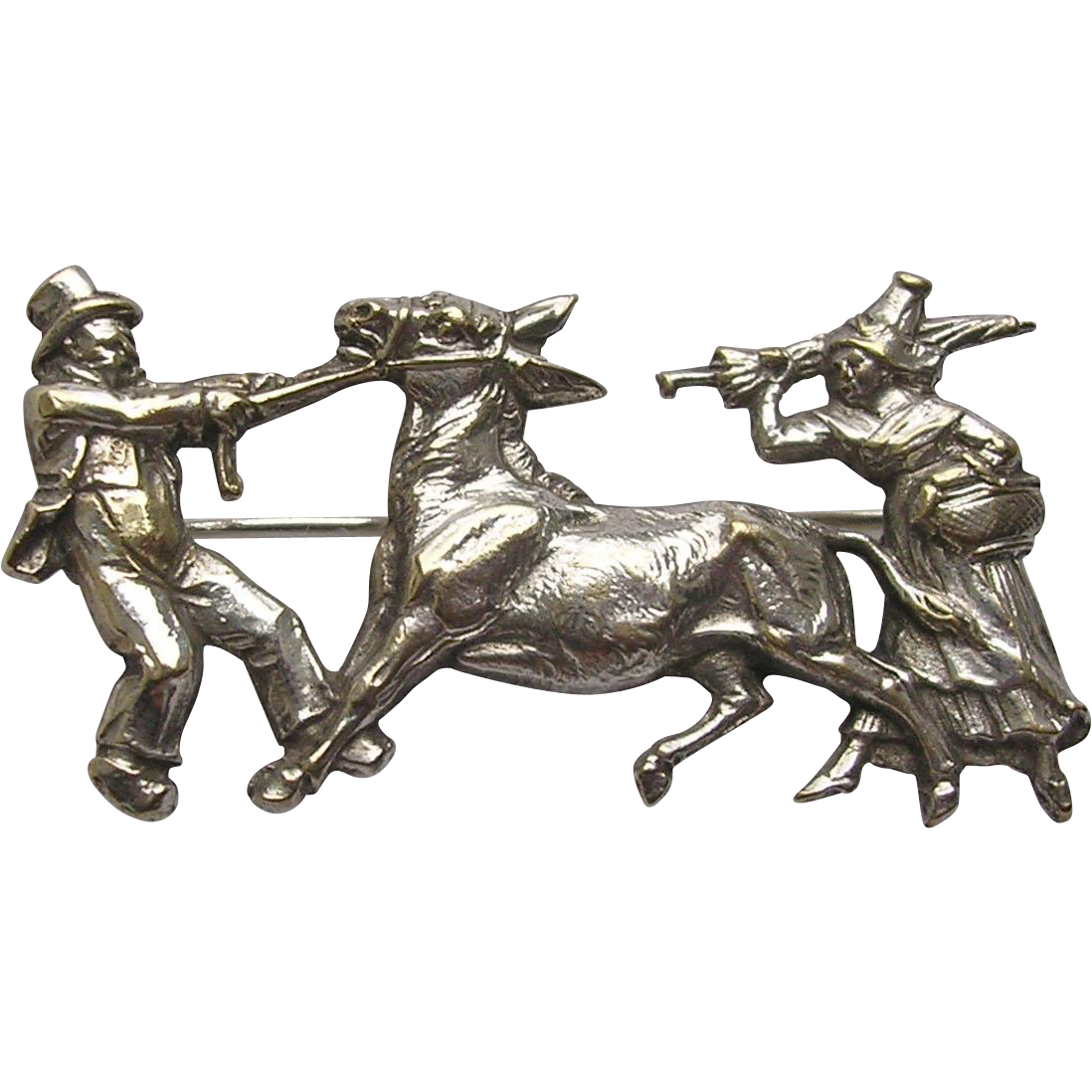 Victorian Donkey Figural Brooch