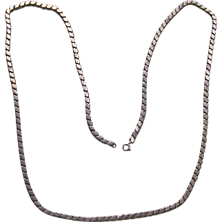 Antique Sterling Silver Fancy Link Chain Necklace