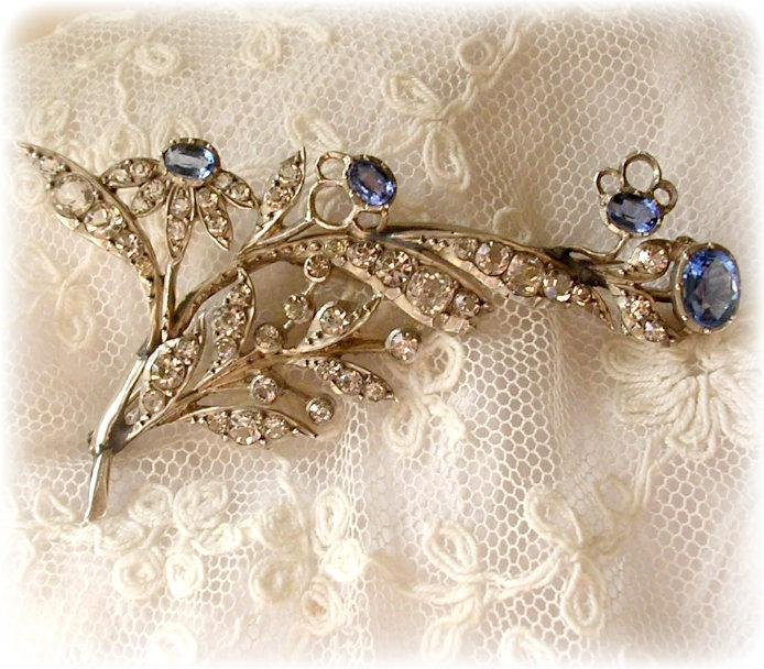 Stunning Antique Early Victorian Silver Paste Brooch