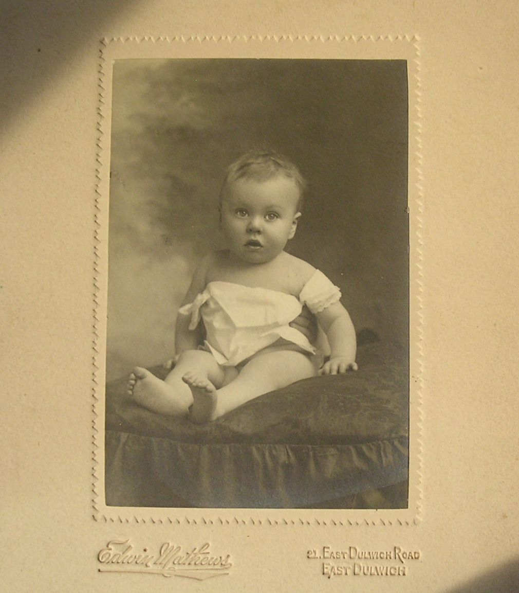 Adorable English Baby Studio Portrait