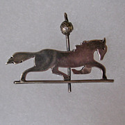 Vintage Sterling Silver Weathervane or Carousel Horse Brooch