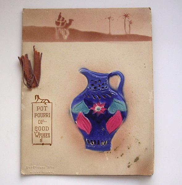 Vintage Raphael Tuck Pot Pourri Series Christmas Card c1923