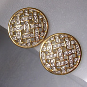 SAL Swarovski Company Crystal Clip Earrings