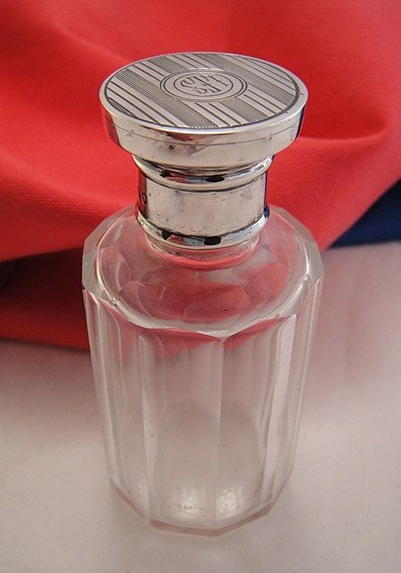 English Antique Victorian Sterling Silver Scent Perfume Bottle