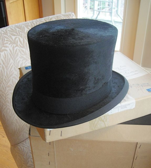 Vintage Antique Silk Top Hat, Hawkes and Co in Original Box