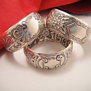 Gorgeous Antique Sterling Silver Ornate Napkin Ring