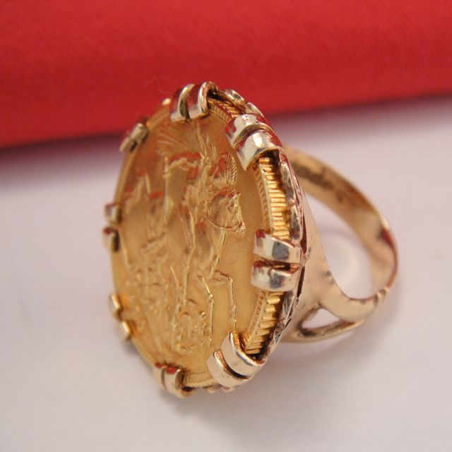 antique 22k gold sovereign ring sold on ruby