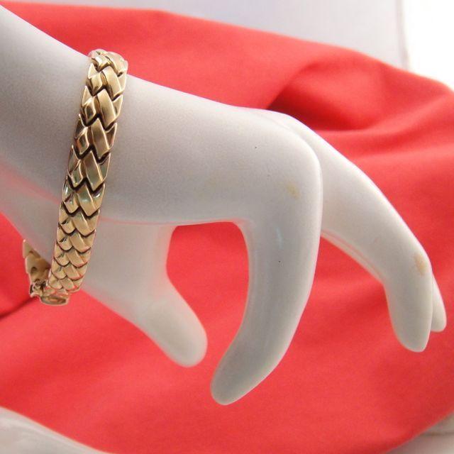 Vintage Italian 10k Gold Weave Bracelet