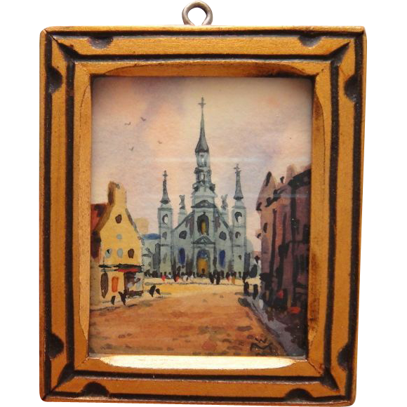 Willard M. Mitchell Watercolor Painting in Hand Made Frame  Listed Artist