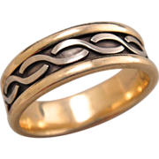 Estate 10k Gold Mens Ring Band