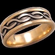 Estate 10k Gold Mens Ring Band