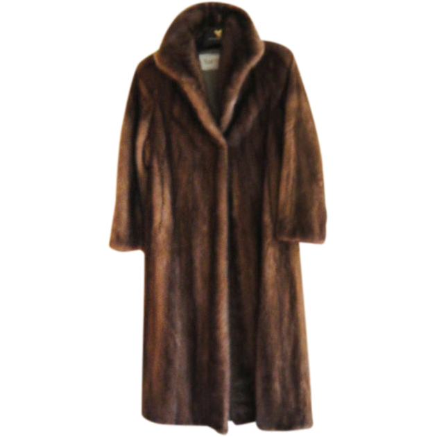 Estate Soft Brown Canadian Mink Fur Coat Size M  Excellent