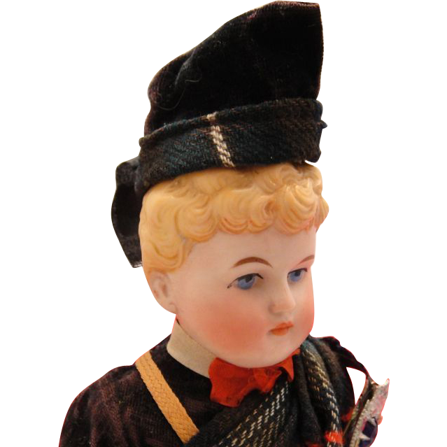 Antique Alt Beck & Gottschalk Bisque Parian Scottish Boy Doll