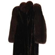 Estate Canadian Sheared Beaver Fox Fur Coat M L  Excellent