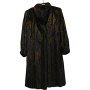 Estate Black Brown Canadian Female Mink Fur Coat Size M L Excellent