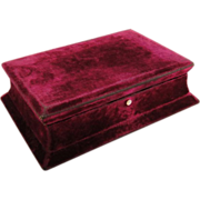 Victorian Royal Purple Velvet Box