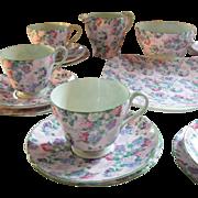Vintage Shelley Chintz Summer Glory Lunch Sweets Tea Set