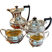 Antique Quality English Sterling Silver Tea and Coffee Service