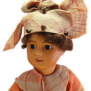 Antique French Bisque SFBJ Mulatto Black Doll
