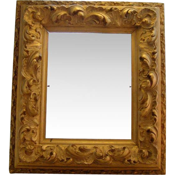 Antique 19th C Georgian Rococo Ornate Gilt Gesso Picture Frame