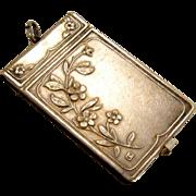 Antique Silver Carnet De Bal Aide Memoire St Anne