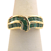 Vintage 14k Gold Columbian Emerald Ring