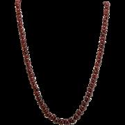 Vintage Estate Genuine Garnet Graduated Beads